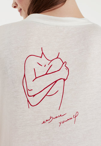 Delicate linen tee #embraceyourself